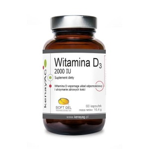 WITAMINA D3 2000 IU (60 soft gel) - suplement diety