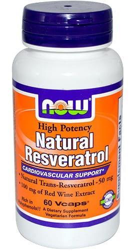 Natural Resveratrol - 60 Vcap Now Foods