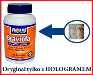 Graviola 500mg 100 kaps. Now Foods